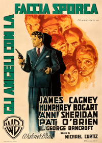 """Angels with Dirty Faces (Warner Bros., 1949). Fine+ on Linen. First Post-War Release Italian 2 - Fogli (38.75"""" X 54..."""