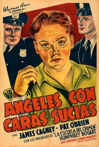 """Angels with Dirty Faces (Warner Bros., 1938). Folded, Fine+. Argentinean One Sheet (29"""" X 43.25""""). From the Mi..."""