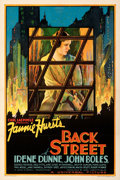 "Movie Posters:Drama, Back Street (Universal, 1932). Very Fine+ on Linen. One Sheet (27"" X 41""). From the Mike Kaplan Collection.. ..."