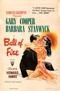 "Ball of Fire (RKO, 1941). Fine on Linen. One Sheet (27"" X 41""). From the Mike Kaplan Collection"