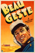 "Movie Posters:Adventure, Beau Geste (Paramount, 1939). Fine/Very Fine on Linen. One Sheet (27"" X 41"") Style B. From the Mike Kaplan Collection.. ..."