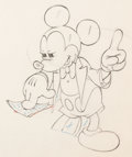 Animation Art:Production Drawing, Mickey's Amateurs Mickey Mouse Animation Drawing (Walt Disney, 1937)....