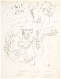 Wally Wood - Earth Men Preliminary Original Art (c. 1976)