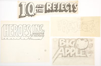 Wally Wood I.Q. & the Rejects and Other Logotype Designs Original Art Group of 4 (1960s)