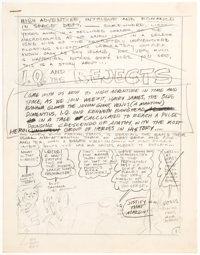 Wally Wood I.Q. & the Rejects Illustrated Pencil-Script Original Art Group of 4 (1960s).... (Total: 4)