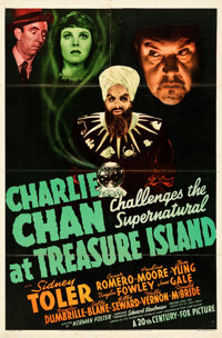 "Charlie Chan at Treasure Island (20th Century Fox, 1939). Folded, Fine+. One Sheet (27"" X 41"")"