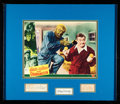Movie Posters:Horror, Abbott and Costello Meet Frankenstein (Universal International, 1948). Very Fine-. Framed and Matted Lobby Card with Autogra...