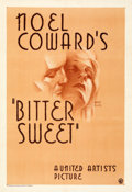 "Movie Posters:Musical, Bitter Sweet (United Artists, 1933). Very Fine on Paper. One Sheet (28.25"" X 41"") Hans Flato Artwork. From the Mik..."