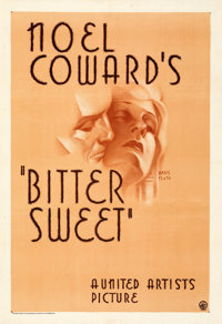 "Bitter Sweet (United Artists, 1933). Very Fine on Paper. One Sheet (28.25"" X 41"") Hans Flato Artwork. From the..."