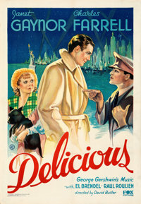 "Delicious (Fox, 1931). Fine/Very Fine on Paper. One Sheet (28.5"" X 41.25""). From the Mike Kaplan Collection..."