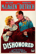"""Movie Posters:Drama, Dishonored (Paramount, 1931). Fine/Very Fine on Paper. One Sheet (27.5"""" X 41""""). From the Mike Kaplan Collection.. ..."""