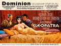 "Movie Posters:Drama, Cleopatra (20th Century Fox, 1963). Very Fine on Linen. Premiere British Quad (30"" X 40""). Howard Terpning Artwork.. ..."