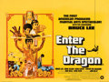 "Movie Posters:Action, Enter the Dragon (Warner Bros., 1973). Fine/Very Fine on Linen. Full Bleed British Quad (30"" X 40""). Bob Peak Artwork.. ..."