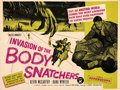 "Movie Posters:Science Fiction, Invasion of the Body Snatchers (Allied Artists, 1956). Very Fine- on Linen. British Quad (30"" X 40"").. ..."