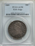 1809 50C XXX EDGE AU50 PCGS. PCGS Population: (7/24). NGC Census: (1/7). CDN: $1,500 Whsle. Bid for NGC/PCGS AU50. Minta...