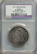 1813 50C 50 C Over UNI, O-101, R.2, -- Improperly Cleaned -- NCS. VF Details. Mintage 1,241,903. From A Small Califo...(...