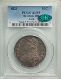 Bust Half Dollars, 1823 50C O-108, R.2, AU55 PCGS. CAC. Ex: Link. PCGS Population: (1/3 and 0/0+). NGC Census: (2/4 and 0/0+). AU55. Mintage 1...
