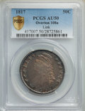Bust Half Dollars, 1817 50C O-108a, R.4, AU50 PCGS. Ex: Link. PCGS Population: (1/4 and 0/0+). NGC Census: (1/0 and 0/0+). AU50. Mintage 1,215...