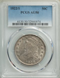 Bust Half Dollars, 1822/1 50C O-101, R.1, AU50 PCGS. PCGS Population: (6/14). NGC Census: (7/23). AU50. Mintage 1,559,573. . From A Small ...