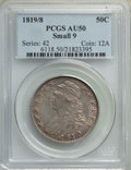 Bust Half Dollars, 1819/8 50C Small 9, O-101, R.1, AU50 PCGS. PCGS Population: (2/15). NGC Census: (6/16). AU50. Mintage 2,208,000. . From...