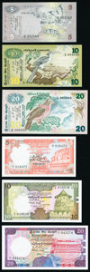 World Currency, A Selection of Modern Issues from Sri Lanka. Crisp Uncirculated or Better.. ... (Total: 16 notes)