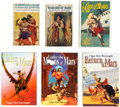 Books:Hardcover, Edgar Rice Burroughs Mars-Related Hardcover Editions Group of 6 (Various, 1920-2007).... (Total: 6 Items)