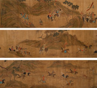 After Zhao Mengfu (Chinese, 1254-1322) Hunting Procession of Emperor Kublai Khan, after 14th century