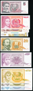 World Currency, A Sizable Modern Offering from Yugoslavia. About Uncirculated or Better.. ... (Total: 45 notes)