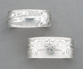 American Indian Art:Jewelry and Silverwork, Two Northwest Coast Engraved Silver Bracelets... (Total: 2 )