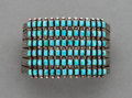 American Indian Art:Jewelry and Silverwork, A Zuni Bracelet c. 1930 silver, turquoi...