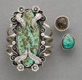 American Indian Art:Jewelry and Silverwork, Three Navajo Jewelry Items c. including...