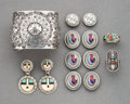 American Indian Art:Jewelry and Silverwork, Six Southwest Jewelry Items... (Total: 11 )