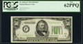 Fr. 2102-F $50 1934 Dark Green Seal Federal Reserve Note. PCGS New 62PPQ