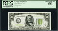 Fr. 2102-H $50 1934 Light Green Seal Federal Reserve Note. PCGS Choice About New 55