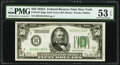 Fr. 2101-B $50 1928A Dark Green Seal Federal Reserve Note. PMG About Uncirculated 53 EPQ