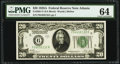 Small Size:Federal Reserve Notes, Fr. 2051-F $20 1928A Federal Reserve Note. PMG Choice Uncirculated 64.. ...