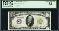 Fr. 2003-G $10 1928C Federal Reserve Note. PCGS Choice About New 58