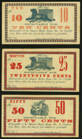 Obsoletes By State:Georgia, Rome, GA- (Foster & Norris) at the Empire Bank 10¢; 25¢; 50¢ Nov. 6, 1862 Remainders Crisp Uncirculated or Better.. ... (Total: 3 notes)