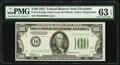 Fr. 2152-D $100 1934 Dark Green Seal Federal Reserve Note. PMG Choice Uncirculated 63 EPQ