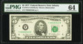 Small Size:Federal Reserve Notes, Low Serial Number 46 Fr. 1974-F $5 1977 Federal Reserve Note. PMG Choice Uncirculated 64.. ...
