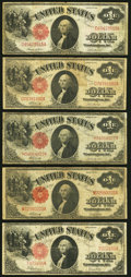 Fr. 36 $1 1917 Legal Tender Very Good; Fr. 37 $1 1917 Legal Tender Two Examples Very Good or Better; Fr. 38 $1 1917...