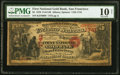 San Francisco, CA - $5 1870 Fr. 1136 The First National Gold Bank Ch. # 1741 PMG Very Good 10 Net.<