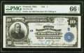 Fremont, OH - $10 1902 Plain Back Fr. 624 The First National Bank Ch. # 5 PMG Gem Uncirculated 66 EPQ