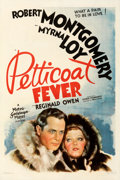 Movie Posters:Comedy, Petticoat Fever (MGM, 1936). Fine+on Linen. One Sh...