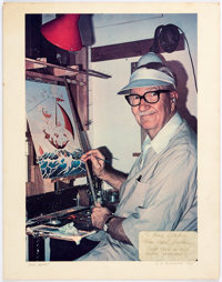 Carl Barks Photo-Portrait of the Artist with Original Handwritten Correspondence to Bill Cole Group of 3 (1974-78)... (T...