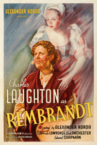 """Rembrandt (United Artists, 1936). Fine/Very Fine on Linen. One Sheet (27"""" X 41.75""""). From the Mike Kaplan Coll..."""