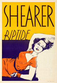 """Riptide (MGM, 1934). Folded, Very Fine-. Leader Press One Sheet (28"""" X 41""""). From the Mike Kaplan Collection..."""