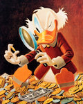 Memorabilia:Comic-Related, Carl Barks The Expert Signed Limited Edition Miniature Lithograph Print #10/595 (Another Rainbow, 1997). ...