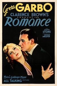 "Romance (MGM, 1930). Very Fine- on Linen. One Sheet (27.25"" X 41""). From the Mike Kaplan Collection"
