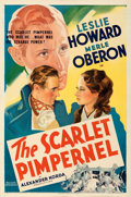 "Movie Posters:Adventure, The Scarlet Pimpernel (United Artists, 1935). Folded, Very Fine. One Sheet (27"" X 41""). From the Mike Kaplan Collection...."
